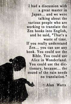 about zen - The Arcane Front (fb) via Truth Beckons