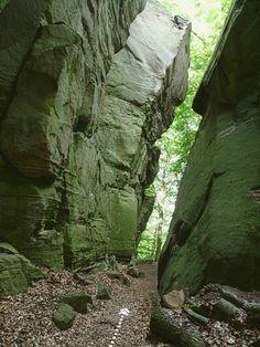 Müllerthal Trail Route 2 wandelen Klein-Zwitserland via Hohllay en Schiessentümpel.