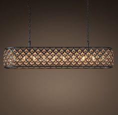 "Spencer Rectangular Chandelier 72"" - restoration hardware PV - Dining room lighting"
