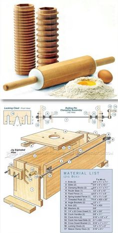 Making Multi-Sleeve Rolling Pin - Woodworking Plans and Projects - Woodwork, Woodworking, Woodworking Plans, Woodworking Projects Woodworking Router Bits, Woodworking Basics, Woodworking Projects Plans, Teds Woodworking, Woodworking Essentials, Wood Jig, Coffee Table Plans, Wood Tools, Wood Working For Beginners