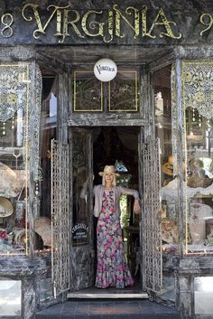 Virginia Bates and her DIVINE store.