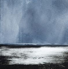 Artist Stephen Robson Print titled 'Humber No.2' Etching and monoprint, 12 x 12 cms image size