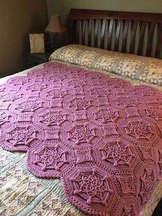 Bordeaux Matelassé Afghan, crochet pattern by Priscilla Hewitt, for sale on Ravelry
