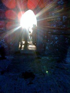 Sunrise, summer solstice Glastonbury Tor