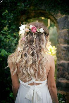 boho bridal hair style