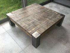 Table basse fer et bois