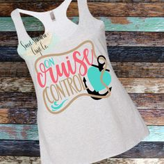 On Cruise Control, Cruise Shirt, Adult Vacation Shirt, Tank Top, Racer back Tank Top, Beach, Beach H Family Cruise Shirts, Vacation Shirts, Cruise Outfits, Cruise Clothes, Beach Hair, Girl Beach, Cruise Tips, Shirt Sale, Personalized T Shirts