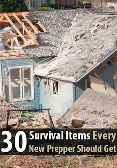30 Survival Items Every New Prepper Should Get - Disaster preparedness is such a huge and complicated subject, it's easy to get overwhelmed, especially if you're worried a disaster will happen soon. What exactly should you buy to make sure you're ready for the most common types of disasters?