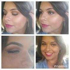 Make basiquinha de hoje sem filtro. Cat eye com côncavo esfumado em marrom, pele iluminada, pouco contorno e blush rosa saúde. Gostou?    #blogcharmecharmosa #blogger #blog #make #makeup #makeupideias #maquiagem #eumaquio #mua #makedodia   www.charmecharmosa.wordpress.com