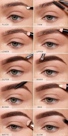 Make Up; Look; Make Up Looks; Make Up Augen; Make Up Prom;Make Up Face; Makeup Steps Source by Makeup Tricks, Best Makeup Tutorials, How To Draw Eyebrows, How To Draw Hair, Drawing Eyebrows, Natural Eye Makeup, Natural Eyes, Eyebrow Makeup, Eyeshadow Makeup
