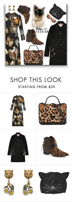 """""""The Cats Meow: Feline Fashion"""" by ragnh-mjos ❤ liked on Polyvore featuring Dolce&Gabbana, Kate Spade, Gucci, Lisa for Donald J Pliner, Karl Lagerfeld and Tom Ford"""