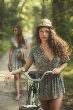young girl on a bicycle by David Dubnitskiy - Photo 119935075 - Bicycle Women, Bicycle Girl, David Dubnitskiy, Female Cyclist, Cycling Girls, Cycle Chic, Bike Style, Surf Girls, Female Portrait