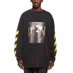 Narciso sweatshirt from the F/W2016-17 Off-White c/o Virgil Abloh collection in black