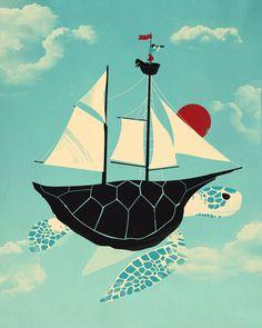 Adrift Art Print $16 (via Society6)