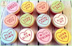 Conversation Love Heart Sweets Cupcakes!