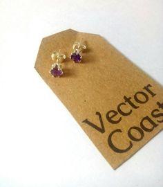 Amethyst Stud Earrings, Stud Earrings, Sterling Silver Stud Earrings, Gemstone Crystal Earrings, Gift for Her by VectorCoastUK on Etsy