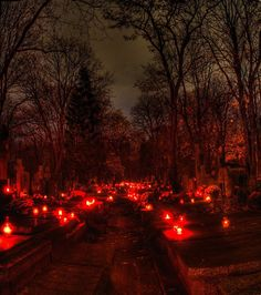 Cemetery on All Saints day. Click to enlarge