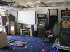20 Best Rec Room Ideas Decoration For Your Family Entertainment. See more ideas about Game room basement, Game room and Finished basement bars, family room, rec room family, rec room kids. Man Cave Garage, Garage Gym, Kids Garage, Garage Playroom, Garage Game Rooms, Garage Ideas, Garage Signs, Garage Party, Kid Playroom