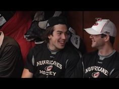 These are a few of my favorite Canes...Justin Faulk & Cam Ward [image from http://motherfaulker.tumblr.com/]