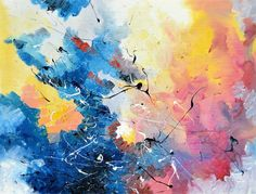 Life On Mars by David Bowie, synesthetic painting by Melissa McCracken