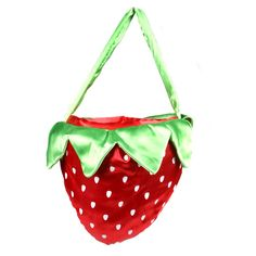 Strawberry Red Fruit Bag ($11) ❤ liked on Polyvore featuring bags