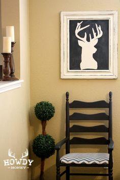 OH DEER! Deer Silhouette Painting