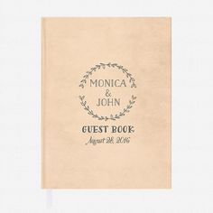 Rustic Love Wedding Guest Book  Customizable Guest by lovevsdesign