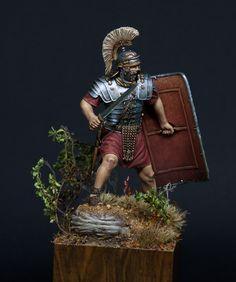 "Roman Legionary by Patrick ""Schlaubi"" Kaiser · Putty&Paint Roman Armor, Roman Legion, Roman Soldiers, Ancient Rome, Roman Empire, Fantasy World, Medieval, Statue, 3d Modeling"