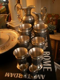 Pewter Serving Collection $150 - Bowmanville http://furnishly.com/pewter-serving-collection.html