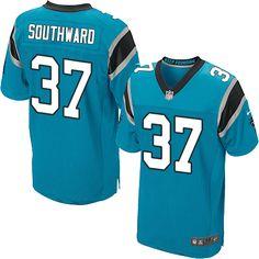 Men's Nike Carolina Panthers #37 Dezmen Southward Elite Blue Alternate NFL Jersey