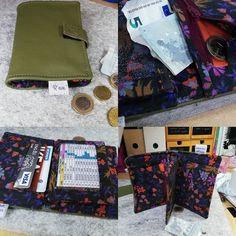 Eve Ortmans sur Instagram: Portefeuille compère small Tissu extérieure cuir, intérieur coton fleuri#vive les chutes de coton#cristal transparent à paillettes#sacotin