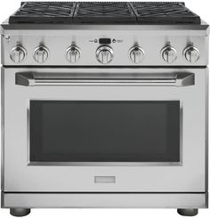 "ZGP366NRSS GE Monogram 36"" All Gas Pro Style Range with 6 Burners - Natural Gas - Stainless Steel"