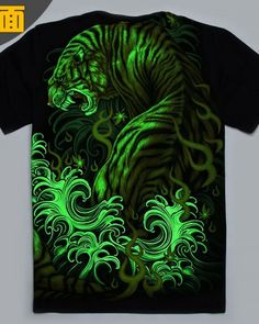 16d12f405 3D tiger glow in the dark t shirt for men Shirts For Teens Boys, Printed