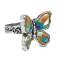 Mariposa Butterfly Multi-Channel Inlay Ring