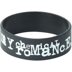 My Chemical Romance Three Cheers Rubber Bracelet | Hot Topic ($7) ❤ liked on Polyvore featuring jewelry, bracelets, accessories, my chemical romance, rubber bracelets, rubber bangles and rubber jewelry