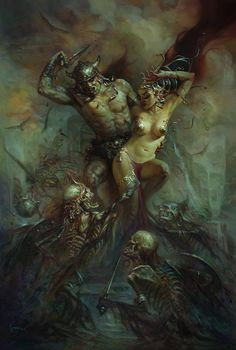 """""""Conan in the Crypts of Thoth Amon"""" Art by Patrick Jones."""