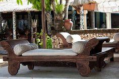 bali style backyard bench - Google Search