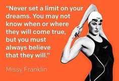 - Missy Franklin Swimming Motivation, Fitness Motivation, I Love Swimming, Usa Swimming, Swimmer Quotes, Missy Franklin, Swimming Memes, Olympic Swimming, Competitive Swimming