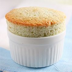 Pandan Coconut Custard Souffle - not my most successful souffle but was still delicious with toasted dessicated coconut