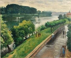 Au bord de la Seine, la Frette  -  Albert Marquet  1940  French, 1875–1947   Oil on canvas