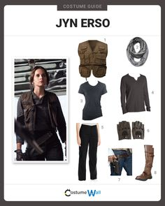 Get into costume as Jyn Erso, portrayed by Felicity Jones, the hero from the movie Rogue One: A Star Wars Story.