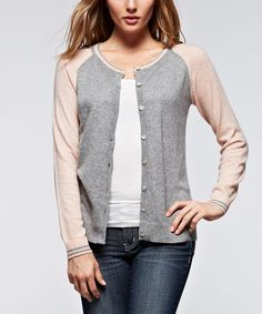Look at this Ruby Rose Gray Raglan Cardigan on #zulily today!