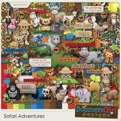 """BoomersGirl Designs: """"Safari Adventures"""" Digital Kit"""