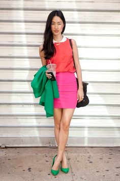 Color blocking perfection.