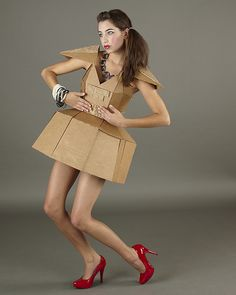 Cardboard Dress - JPG Photos