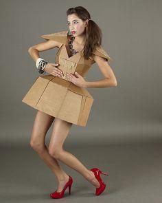 cardboard dress. #soysymbool #symbool #reciclaje #moda #cartón