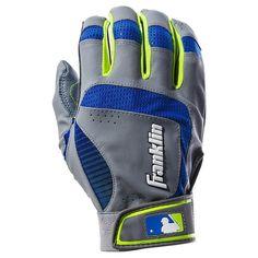 Youth Franklin Sports Shok-Sorb Neo Batting Gloves, Blue