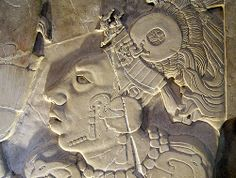 Mayan basrelief from Palenque,Chiapas,Mexico