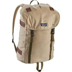 Patagonia Arbor Pack 26L- Sale Colors - El Cap Khaki - School... ($69) ❤ liked on Polyvore featuring bags, backpacks, tan, padded laptop bag, brown bag, laptop rucksack, shoulder strap backpack and brown laptop backpack