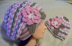 Mothers Beret. Mother and Daughter ~ free pattern